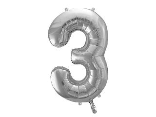 μπαλόνι 3 ασημί