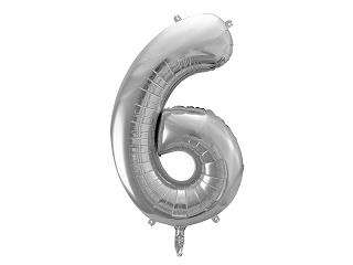 μπαλόνι 6 ασημί