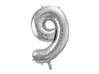 μπαλόνι 9 ασημί