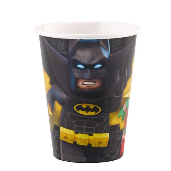 Ποτήρια χάρτινα 266ml Lego Batman 8τεμ.