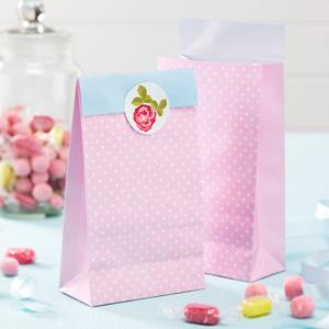 Χάρτινες Τσάντες Δώρων Vintage Rose 5τεμ