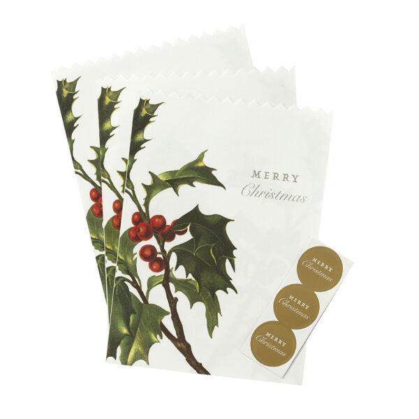 Χάρτινη σακούλα δώρου Botanical Christmas 8τεμ.