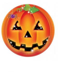 Πιάτα φαγητού 23εκ. Perfect Pumpkin Halloween 8τεμ.