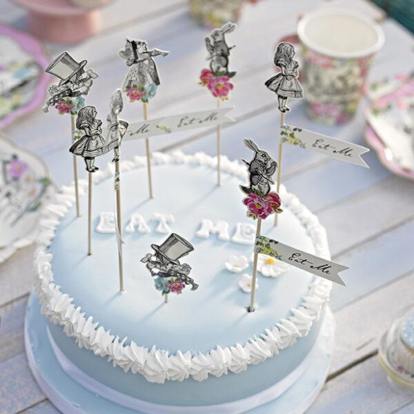 Διακοσμητικά toppers για cake και cupcakes Truly Alice