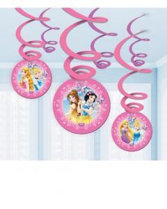 Κρεμαστά στριφογυριστά στολίδια Disney Princess Glamour 6τεμ.