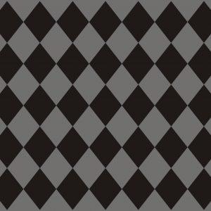 Σουπλά Γκρι - Μαύρο Ρόμβος 42 χ 30εκ., 12τεμ.