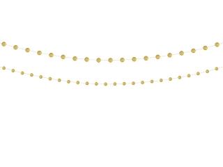 ασημί γιρλάντα κύκλοι