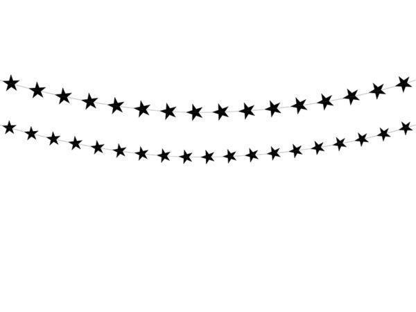μαύρη γιρλάντα αστέρια
