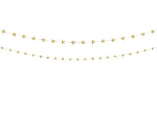 χρυσή γιρλάντα αστέρια