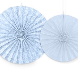 Διακοσμητικές Βεντάλιες γαλάζιες