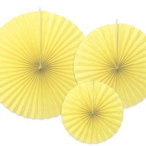 Διακοσμητικές Βεντάλιες κίτρινες