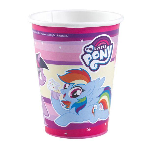 Ποτήρια Χάρτινα My Little Pony 250ml 8τεμ.