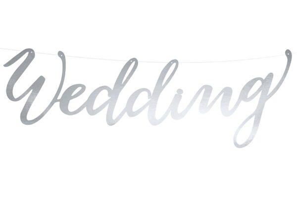 Γιρλάντα wedding ασημί