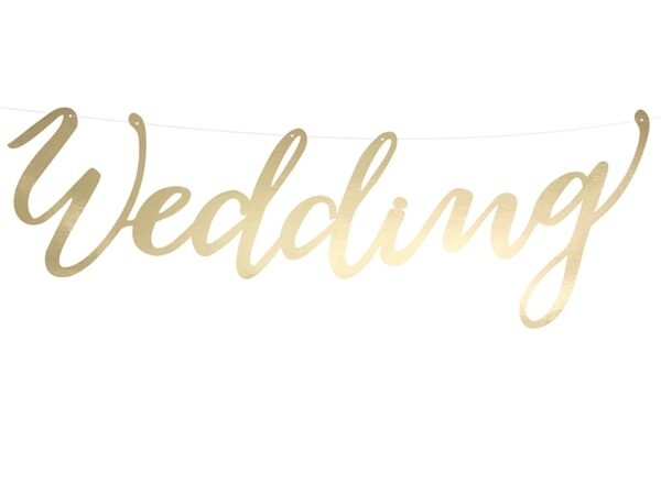 Γιρλάντα wedding χρυσή