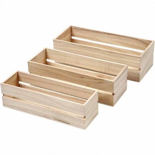 Ξύλινα παραλληλόγραμμα κουτιά
